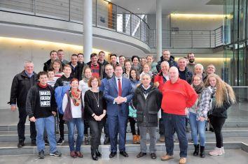 Erinnerungsfoto mit den Mitgliedern des Musikvereins Amendingen