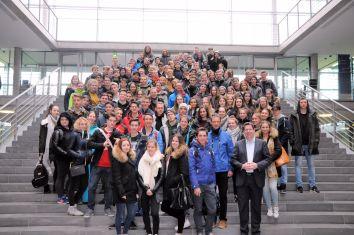 Gruppenbild im Paul-Löbe Haus des Bundestages. © Büro Stracke.