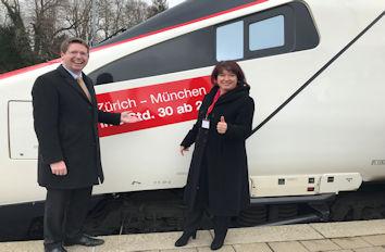 Am 23. März erfolgte der Spatenstich an der Ausbaustrecke München - Lindau.