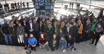 Gemeinsames Gruppenfoto auf der Reichstagskuppel des Deutschen Bundestages © Büro Stephan Stracke MdB