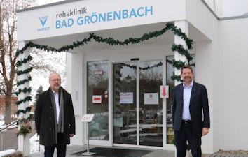 Anfang Dezember besuchte Stephan Stracke die VAMED Klinik in Bad Grönenbach. Unser Bild zeigt ihn zusammen mit Klinikgeschäftsführer Johann Seidl.     Bildquelle: Abgeordnetenbüro
