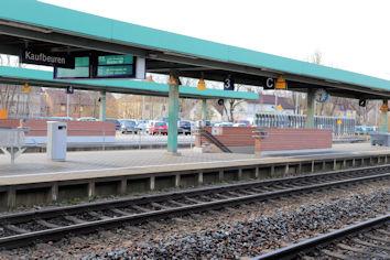 Großartige Aussichten: Bis 2026 soll der Bahnhof Kaufbeuren barrierefrei umgebaut sein.